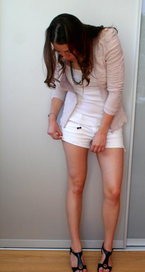white MJ shorts