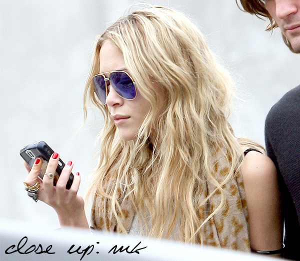 Mary Kate Olsen beach hair