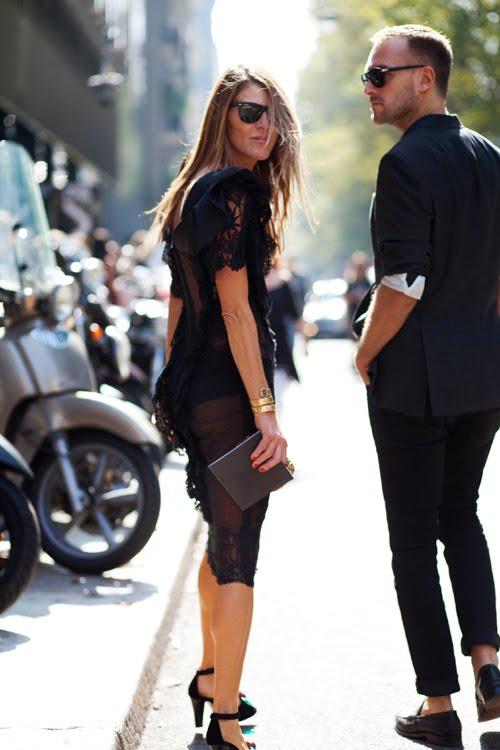Anna Dello Russo at Dolce Gabbana