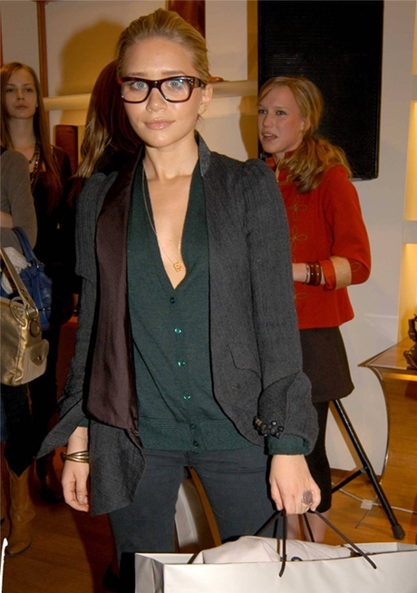 Ashley Olsen at Hogan store-event