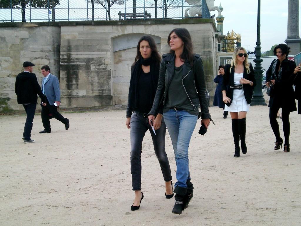 Géraldine Saglio & Emanuelle Alt at Chloé