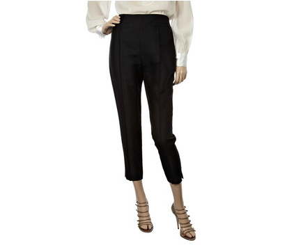 Balenciaga silk-blend cropped pants