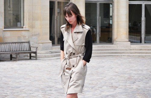 trench dress by tommy ton