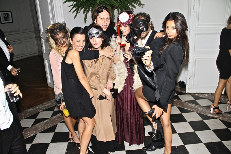 VOGUE paris masquerade ball crew