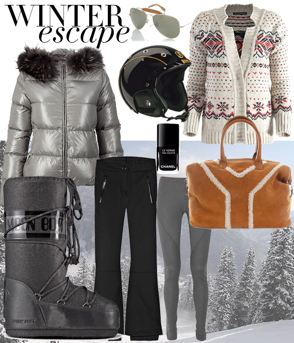 winter escape outfits