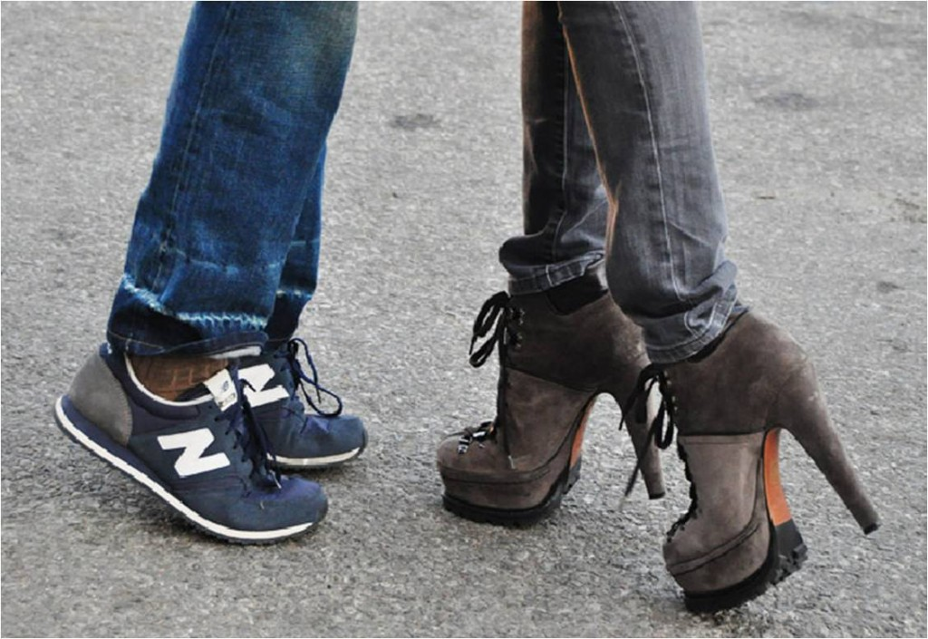 Tommy Ton at NYFW shot Alaia booties