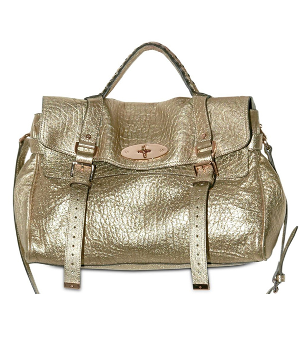 mulberry alexa gold metallic