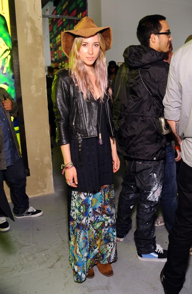 Gillian Zinser maxi skirt and hat