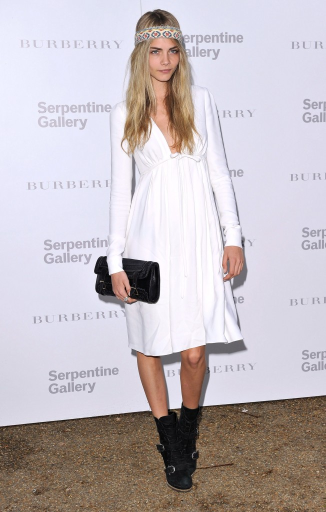 Cara at the Serpentine gallery summer party
