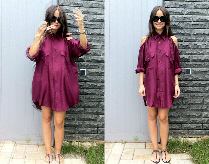 american apparel shirt dress_roger vivier heels
