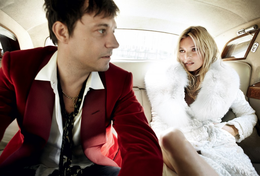 In the backseat Kate Moss wedding