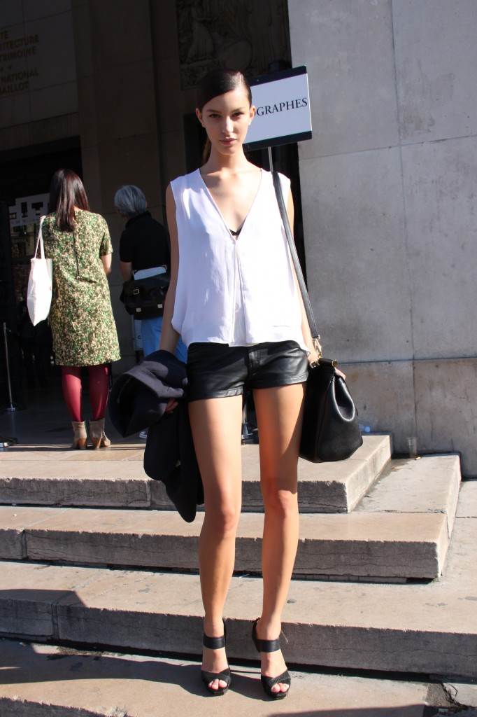 Model off-duty at Dries van Noten